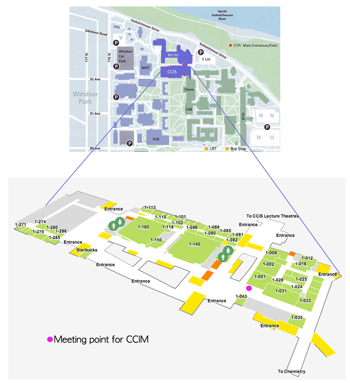 Map of CCIM meeting point in CCIS